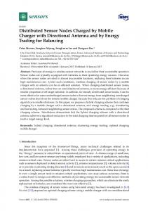 Distributed Sensor Nodes Charged by Mobile ... - Semantic Scholar
