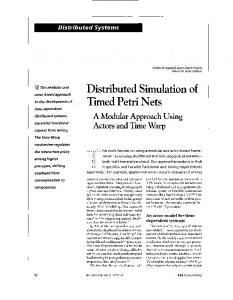 Distributed simulation of timed petri nets - IEEE Concurrency [see also ...