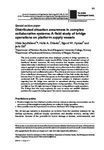Distributed situation awareness in complex