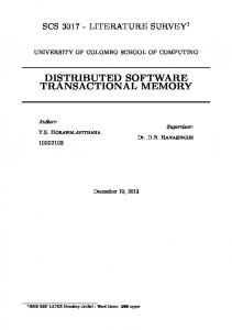 distributed software transactional memory - GitHub Pages