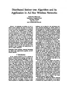 Distributed Steiner tree Algorithm and its Application in Ad ... - CiteSeerX