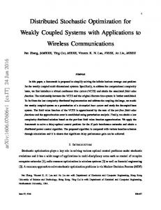 Distributed Stochastic Optimization for Weakly Coupled ... - arXiv