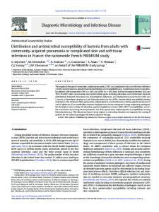 Distribution and antimicrobial susceptibility of bacteria from adults with ...
