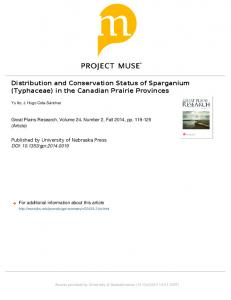 Distribution and Conservation Status of Sparganium ...