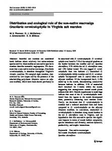 Distribution and ecological role of the non-native ... - Thomsenlab