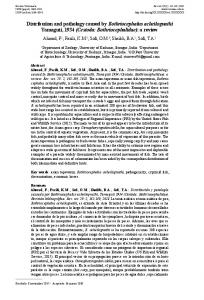 Distribution and pathology caused by ... - Revistas UNNE