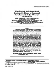 Distribution and Quantity of Contractile Tissue in ... - Wiley Online Library