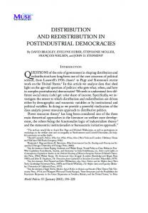 distribution and redistribution in postindustrial democracies
