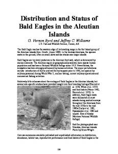 Distribution and Status of Bald Eagles in the Aleutian Islands