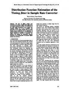 Distribution Function Estimation of the Timing Jitter in Sample Rate ...