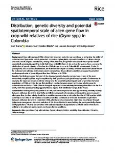 Distribution, genetic diversity and potential spatiotemporal ... - Core