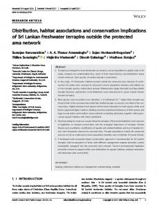 Distribution, habitat associations and ... - Wiley Online Library