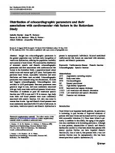 Distribution of echocardiographic parameters and their ... - Springer Link