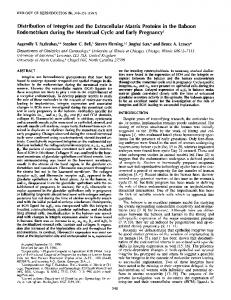 Distribution of Integrins and the Extracellular Matrix Proteins in the ...