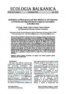 Distribution of Plant Species and Their Relation to Soil ... - Focus