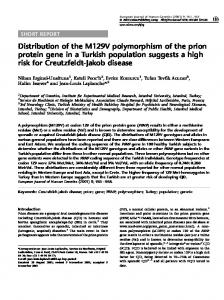 Distribution of the M129V polymorphism of the prion protein ... - Nature