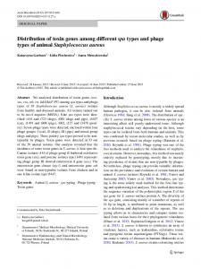 Distribution of toxin genes among different spa types ... - Springer Link