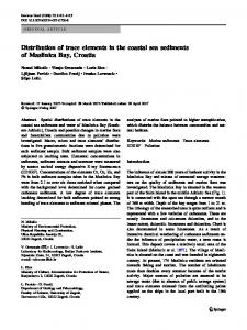 Distribution of trace elements in the coastal sea sediments of ...
