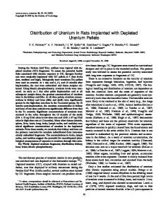 Distribution of Uranium in Rats Implanted with Depleted Uranium Pellets