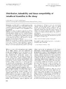 Distribution, tolerability and tissue compatibility ... - Wiley Online Library