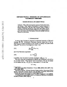 Distributional versions of Littlewood's Tauberian theorem