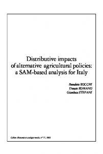Distributive impacts ofalternative agricultural policies ... - AgEcon Search