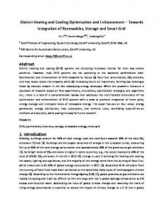 District Heating and Cooling Optimization and ...