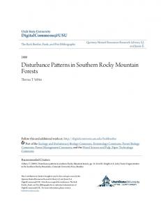 Disturbance Patterns in Southern Rocky Mountain Forests