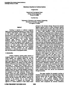 Disturbance Rejection for Nonlinear Systems Zongxuan Sun ...