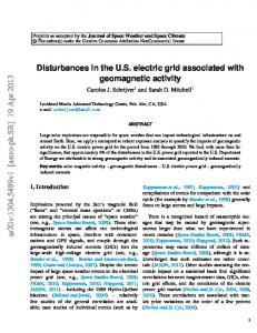 Disturbances in the US electric grid associated with geomagnetic activity