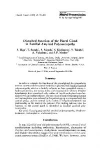 Disturbed function of the pineal gland in familial ... - Springer Link