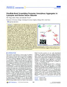 Disulfide-Bond Scrambling Promotes Amorphous Aggregates in ...