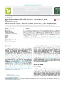 Diterpenes and a new benzaldehyde from the mangrove ... - SciELO