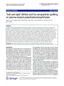 dithiols and Au nanoparticles grafting on plasma