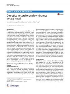 Diuretics in cardiorenal syndrome: what's new?