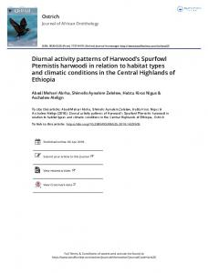 Diurnal activity patterns of Harwood's Spurfowl ...
