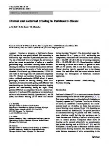 Diurnal and nocturnal drooling in Parkinson's disease - BioMedSearch