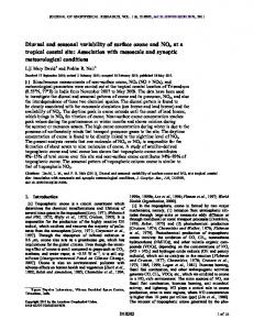 Diurnal and seasonal variability of surface ... - Wiley Online Library