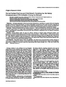 Diurnal cortisol rhythms and child growth - Wiley Online Library