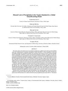 Diurnal Cycle of Precipitation in the Tropics Simulated ... - AMS Journals