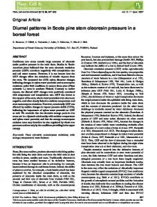 Diurnal patterns in Scots pine stem oleoresin ... - Wiley Online Library