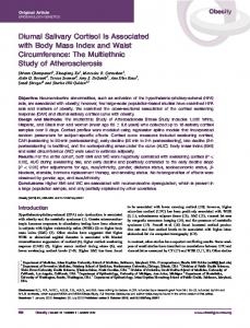 Diurnal salivary cortisol is associated with body ... - Wiley Online Library
