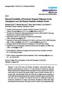 Diurnal Variability of Persistent Organic Pollutants in the ... - MDPI
