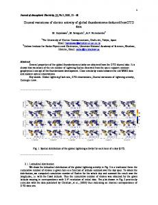 Diurnal variations of electric activity of global