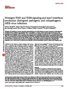Divergent TLR7 and TLR9 signaling and type I interferon production ...