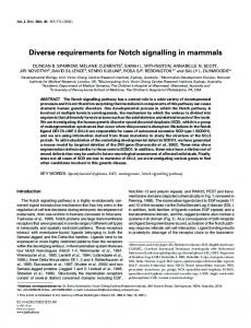 Diverse requirements for Notch signalling in mammals