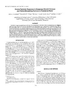 Diverse Testicular Responses to Exogenous Growth ... - CiteSeerX
