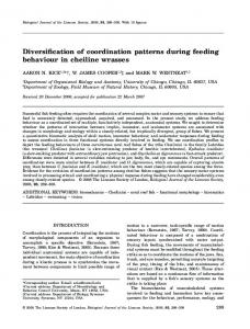 Diversification of coordination patterns during ... - Oxford Academic