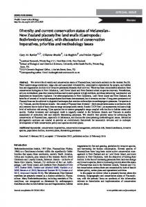 Diversity and current conservation status of ...