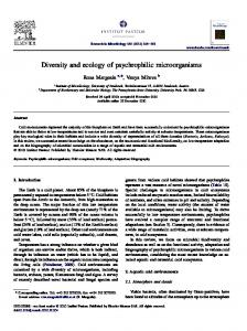 Diversity and ecology of psychrophilic microorganisms